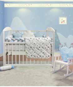 Textil-Bambino-komplet-posteljina-za-krevetac-za-bebe-Plava_2