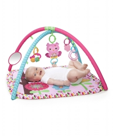 Kids II podloga za igru bebe Charming Chirps pink