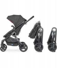 Chicco Urban Plus kolica za bebe 2u1 anthracite siva