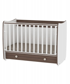 Lorelli Bertoni krevetac za bebe Dream 2 u 1 White Walnut