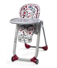 Chicco hranilica za bebe Polly Progress cherry - crvena