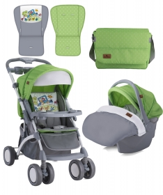 Lorelli Bertoni kolica i auto sedistem za bebe Apollo Set Green & Grey Car