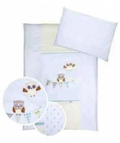 Klups posteljina za bebe set 5 delova Night Birds Blue